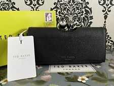 Ted Baker Black Genuine SOLANGE Crystal Bobble Leather Matinee Purse Boxed