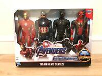 Marvel Avengers Titan Hero Series Set Of 4 Action Figures Hasbro Toys
