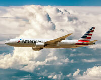 AMERICAN AIRLINES BOEING 777-200ER AIRLINER 8x10 SILVER HALIDE PHOTO PRINT