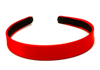 2 cm Wide Red Satin Covered Alice Hair Band Fabric Headband