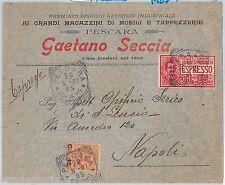 64029 - ITALIA   - STORIA POSTALE: BUSTA PUBBLICITARIA Pescara 1907 - ESPRESSO