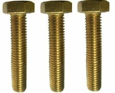 """3/8""""-16 Brass Hex Head Bolts All Sizes Listed"""
