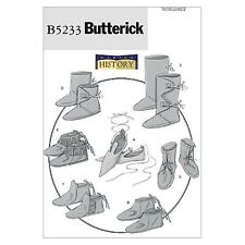 Butterick sewing pattern historique chaussures B5233