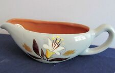 PATTERN Golden Harvest by Stangl White Tan Flowers Gravy Boat