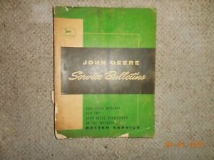 Vintage 1961-62 John Deere Service Bulletins In Folder