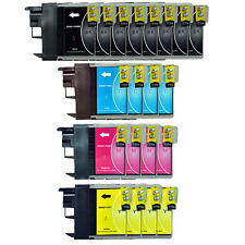 20 Patronen für Brother DCP195C DCP165C DCP145C DCP375CW MFC250C LC980 LC1100