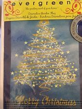 """NEW EVERGREEN SUEDE GARDEN 12.5x18"""" """"GOLD CHRISTMAS"""" MERRY CHRISTMAS GOLD TREE"""