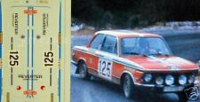 "DECAL CALCA 1/43 BMW 2002 Tii ""ESC. REVERTER"" B. FERNANDEZ R. MONTE CARLO 1976"