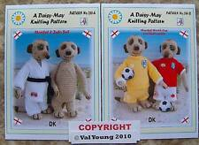 Knitting patterns for a Meerkat+ Judu suit and sportswear 286A/B by VAL YOUNG