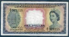 1953 *1ST ISSUE A/1* FIRST RUN QEII MALAYA BRITISH BORNEO $1 NOTE *SCARCE PIECE*