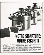 PUBLICITE  1973     SEB   cocotte minute