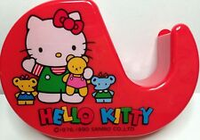 Vintage Sanrio 1976, 1990 Hello Kitty Red Tape Dispenser Made in Japan