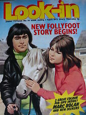LOOK-IN MAGAZINE 1ST APRIL 1972 - FOLLYFOOT - MARC BOLAN - NEW SEEKERS