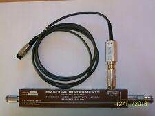 MARCONI VSWR detector 6512 for 6500 scalar analyzer with NARDA 5282 VSWR bridge