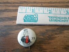 """Vintage Mac from Tillie the Toiler pin-back button 1"""" diameter"""