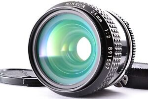 Near Mint Nikon Nikkor Ai Converted 35mm f/2 Wide Angle Prime Lens From Japan MF