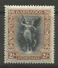 BARBADOS. 1920. 2 Black & Brown. Watermark Crown to Right. SG: 210a. LHM