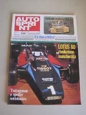 AUTOSPRINT 12/1979 - Targa Florio / Lotus 80 / Ligier / Rally Portogallo