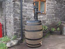 40 gallon oak barrel water butt & working hand pump & brass tap