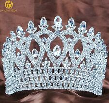 World Pageant Tiara Crown Clear Austrian Rhinestone Wedding Party Costumes New