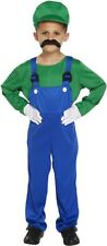 Kids Boys Super Mario and Luigi Costumes Plumber Bros Halloween Book Fancy Dress