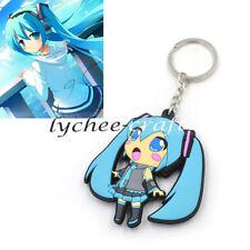 Japan Anime Cute Hatsune Miku Pendant Keychain Key Bag Car Ring New Gift Blue