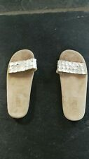 Toast Shell and Leather Flip flops size 4