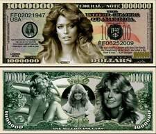 Farrah Fawcett Million Dollar Bill Collectible Fake Funny Money Novelty Note