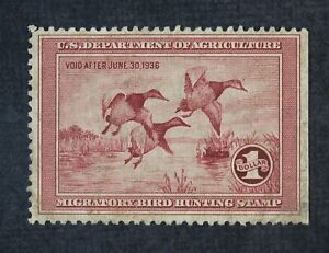 CKStamps: US Federal Duck Stamps Scott#RW2 $1 Unused NG SPot Thin Stain