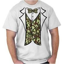 Redneck Camo Printed Tuxedo Bachelor Party Mens T-Shirts T Shirts Tees Tshirt