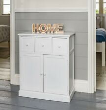 White Sideboard Cupboard with 3 Drawers Bedroom Hallway Storage Unit