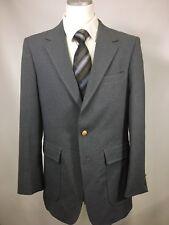 Vintage Sears Roebuck Gray Western Sports Jacket Coat Blazer 40L Long Two Button