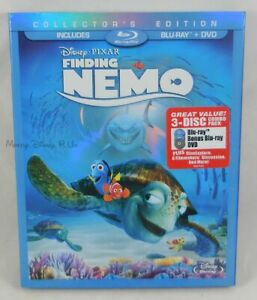 New Disney Pixar Finding Nemo Collector's Edition Blu-Ray and DVD 3 Disc Set