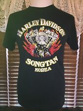 Men's VGUC HARLEY DAVIDSON S Small Black HD Of Song Tan Korea T-Shirt