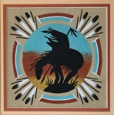 Navajo Sand Painting End Of The Trail Signed Framed