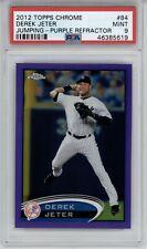2012 Topps Chrome Derek Jeter #84 Purple Refractor PSA 9 Mint POP 12 Yankees