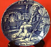 ENOCH WEDGWOOD ENGLAND PLATE PIN DISH GAME KEEPER VINTAGE COBALT BLUE