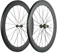 700C 60mm Carbon Wheels Road Bike 25mm U Shape Clincher Bicycle Wheelset UD Matt