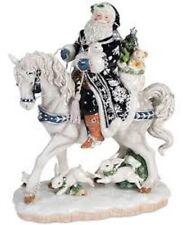 Fitz & Floyd Bristol Holiday Santa On Horse ~ Large Figurine~ New In Box