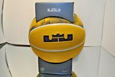 "Nike Lebron James Playground 4P Lakers Gold Purple Full 29.5"" Size 7 Basketball"