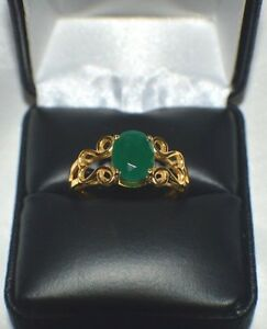 3.48 ct.  GENUINE NATURAL EMERALD IN   .925 STERLING  SILVER STATEMENT  RING