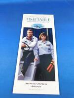 MIDWEST EXPRESS AIRLINES TIMETABLE SCHEDULE OCTOBER 1994 BEST CARE IN THE AIR
