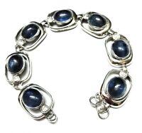 Kyanite Natural Gemstone Handmade 925 Sterling Silver Bracelet 7-8""