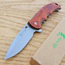 "Elk Ridge Ballistic Folding Knife 3.5"" Stainless Steel Blade Pakkawood Handle"