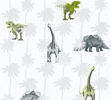 CHILDRENS KIDS GIRLS BOYS MONSTER T REX DINOSAUR WALLPAPER A.S.CREATION 35835-2