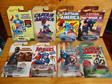 Hot Wheels 2016 Captain America Series full set of 8 (A+/A)