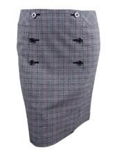 85bcaf8d16 Tommy Hilfiger Womens Gray Plaid A-line Sailor A-line Skirt 16 BHFO 9328