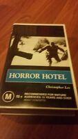 HORROR HOTEL - CHRISTOPHER LEE - RARE B/W 1960  VHS VIDEO