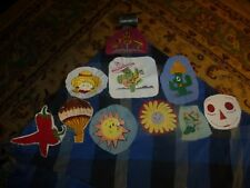 Vintage Homemade Southwestern Misc Embroidery Remnant Patch Lot Of 10 Unique
