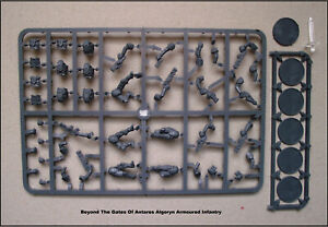 Beyond The Gates Of Antares Algoryn Armoured Infantry Figurines 28mm plastique